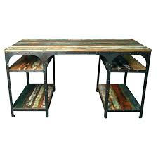 table de bureau en bois bureau style industriel en metal et bois minkras info