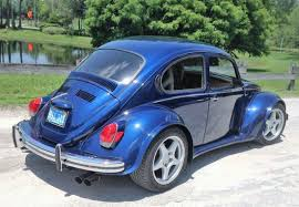 volkswagen beetle blue super beetle v8 swapped widebody volkswagen bug w c4 corvette