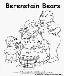 the berenstain bears coloring pages free coloring pages