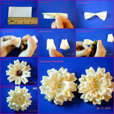 satin ribbon flowers цветы из атласной ленты канзаши мастер классы