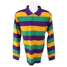 mardi gras polo shirt mardi gras sleeve polo shirt pur grn gold x