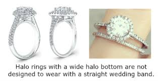 types of wedding ring what of wedding bands go with halo engagement rings fox