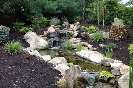 Backyard Waterfalls Ideas Backyard Garden Waterfalls As Beautiful Garden Landscaping Vizdecor