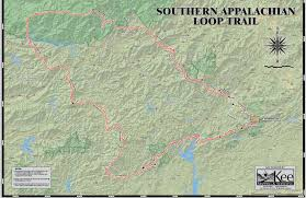 Map Of Sc And Ga Connecting The Dots Of The Southern Appalachian Loop Trail