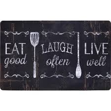 Comfort Kitchen Mat Home Dynamix Designer Chef Eat Laugh Live 24 In X 36 In Anti