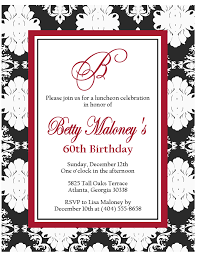 60th birthday invitations clipart 20