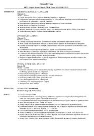 data analyst resume junior data analyst resume sles velvet