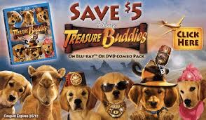 treasure buddies bluray dvd combo pack today