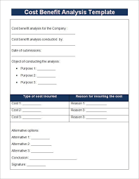 simple cost benefit analysis template cost benefit analysis