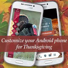 customize your android phone for thanksgiving zdnet