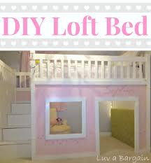 kids girls beds how to build a loft bed playhouses lofts and storage
