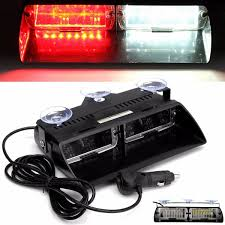red and white led emergency lights 16 led flash light 16w white red windshield warning emergency