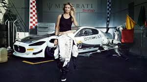 maserati woman supermodel heidi klum maserati team up for swimsuit issue spread