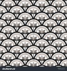 trellis beautiful oriental tiled monochrome seamless stock vector
