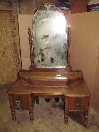Antique Bedroom Vanity Brown Stone Wood Antique Bedroom Vanity With Mirror And Short Legs