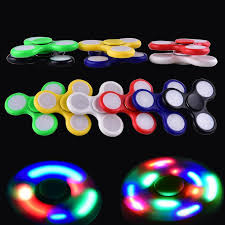 cool 2017 led light up spinners fidget spinner top quality