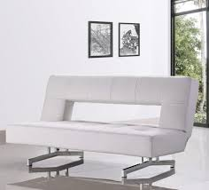 Fold Out Bed divani casa wilshire modern fold out leatherette sofa bed