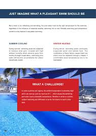 What Is Comfortable Water Temp For Swimming Swimming Pool Heat Pump Brochure Blueway