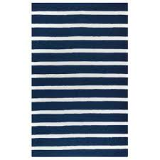 Navy Outdoor Rug Striped 5 X 7 Outdoor Rugs Rugs The Home Depot