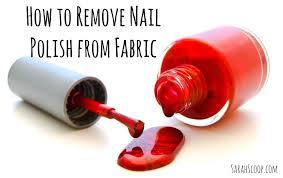 nail polish from fabric