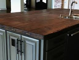 wood top kitchen island reclaimed wood kitchen island tops and countertops