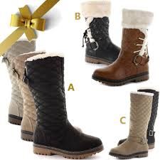 womens quilted boots uk womens flat knee high calf quilted fur lined winter