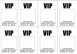 free printable vip ticket access template example with simple