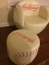 baseball chair and ottoman set budweiser baseball chair with ottoman two piece furniture set with