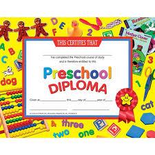preschool certificates preschool diploma student teaching graduation supplies a