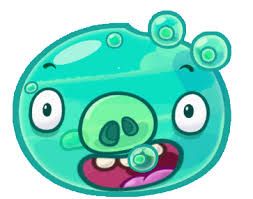 image angry birds fight monster pigs aqua pig png angry