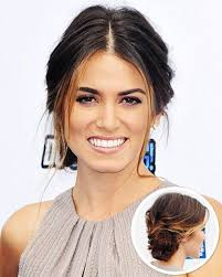 side view of pulled back hair in a bun best 25 middle part updo ideas on pinterest red carpet