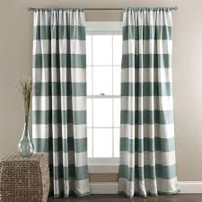 Stripe Curtain Panels And White Thick Stripe Curtain Panel