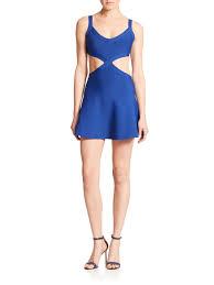 bcbgmaxazria elyzabeth cutout dress in blue lyst