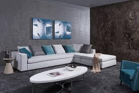 grey fabric modern living room sectional sofa w wooden legs casa whitley modern grey fabric sectional sofa w ottoman