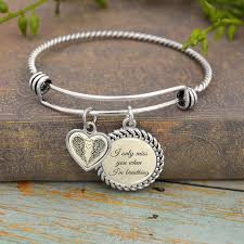charm you bracelet images I only miss you when i 39 m breathing charm bracelet jpg