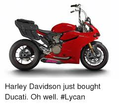 Harley Davidson Meme - harley davidson just bought ducati oh well lycan meme on me me