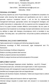 construction foreman resume examples it project manager cv template project management prince2 cv junior project manager resume software development manager resume samples