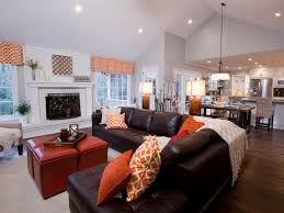 outstanding open concept kitchen living room sectional sofa and