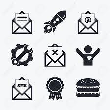 supprimer icone bureau réalisation de prix clé et cog fusée de démarrage et burger