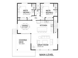 Floor Plan Drawing by Contemporary Style House Plan 4 Beds 2 50 Baths 1937 Sq Ft Plan
