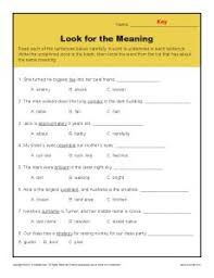 context clues worksheet 3rd grade free worksheets library