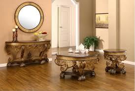 Mirror Sofa Table by Homey Design Hd 2112 4pcs Traditional Walnut Coffee End Sofa Table Set