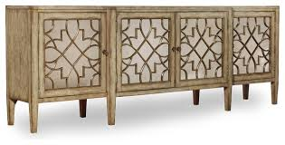 hooker furniture sanctuary four door mirrored console