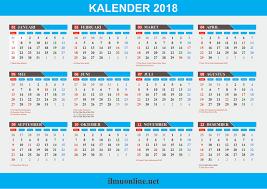 Gambar Kalender 2018 Lengkap Kalender 2018 Format Corel Draw Cdr