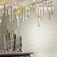Stick On Mirror Tiles Bathroom Free Shipping Reflective Mirror Like Decorative Wall