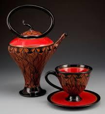 Red Vases And Bowls Marti Mocahbee Clay Artist Carolina Designer Craftsmen Guild