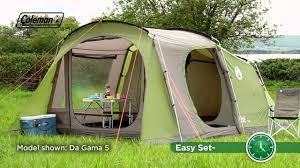 Comfortable Camping Coleman Da Gama 6 Family Camping Tent Youtube