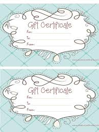 printable gift certificates templates free click here for full