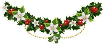 christmas mistletoe transparent christmas mistletoe garland with flowers png clipart