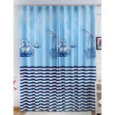 Nautical Striped Curtains Nvay Blue Print Polyester Nautical Curtains For Kids Room